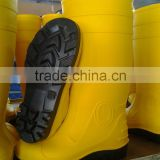 2015 comfortable wear-proof PVC mining safety boots