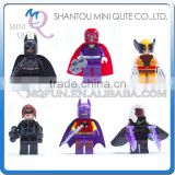 Mini Qute DECOOL 6pcs/set Marvel Avenger super hero X-Man building block action figures educational toy NO.0184-0189