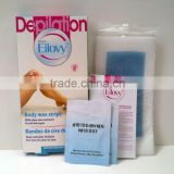 Eilovy depilatory cold wax strips with Essential Oils, no irritate to skin reuse more than 4 times