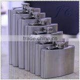 Logo Customized Portable Stainless Steel Hip Flask 1OZ to 178OZ for promotion made of stainless steel