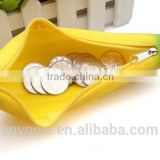 Lovely student silicone coin wallet banana small purse