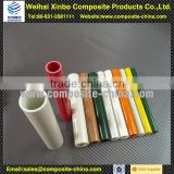 Pultruded colorful fiberglass tube with epoxy resin fiberglass water slide tubes for sale