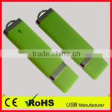 1gb usb flash drive plastic pen drive green memory flash plastic usb stick