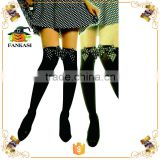 Wholesale sexy party black thigh high socks for girls
