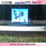 soft transparent window glass curtain led wall XR 16H full color transparent glass led display