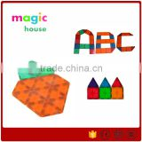 2016 hot sales Children's popular environmental magnetic toy / Magnetic Tiles Deluxe Building Set 42 Piece many colours