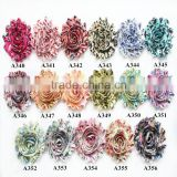 "Artifical New Printed 2.5"" Chiffon Shabby Rose Chic Flower In Hot-selling"