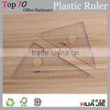 Promotional transparent triangular scale ruler 14cm 17cm 22cm 27cm 32cm 36cm size plastic ruler