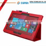 Factory price back standing leather case for Nokia Lumia 2520 tablet
