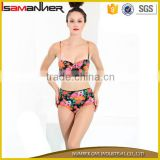 Hot bikini manufacturer sexi flower printing bikinis woman swimwear 2016                                                                         Quality Choice