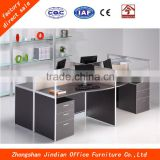 Customize office furniture work station for 4 Persons with under desk movable cabinet and screen
