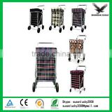 Wheeled Shopping Trolley Grocery Bag Easy Carrier Cart with Folding Rest Seat (directly from factory)