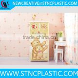 Kids Toys Books Bedding Clothes Storage Box Girls Boys Bedroom Yellow Bear 5 Drawer