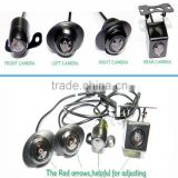 12V AVM panorama camera 360 degree camera bird view system aerial around view car security camera parking system for X1