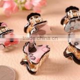 fancy jeweled flower metal claw clip hair clip hair accessories for women