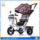 Wholesale 4 in 1 baby tricycle children tricycle /children tricycle with pusher/children metal frame tricycle