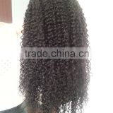 Factory price Kinky curly human hair wig, Brazilian Lace wig, 100% human hair Lace Front Wig