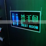 Led Glow Sign Boards Toilet Led Light Sheet