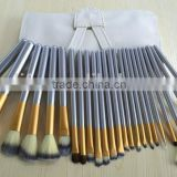 Professional Makeup Brush Set Hot Horse Hair Cosmetics Brush Set with White Cream-colored Case