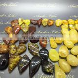 All color amber caboshon, Natural Baltic Amber pendant