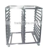 10 Trays 20 Pans Stainless Steel Trolley Bakery Bread Rack made in china