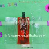 Excellent Quality and Fashion Design, Carry-on Plastic Cooler Bag for Wine Bottles and Ice Cubes