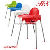 New design Plastic baby high chair baby dining table and chair