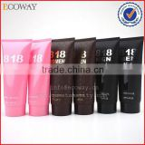 Disposable hotel body lotion tube with screw cap plastic cosmetic tube