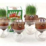 Grass head toy.grass doll toy.mini plant toy