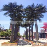 vertical garden decoration palm leaf products 5ft to 16ft Height outdoor artificial green plastic coconut palm trees