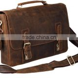 14 Inch Cow leather laptop bag,messenger laptop bags 14 inch / the most popular ladies cow leather messenger bags / leather