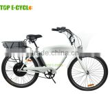 TOP 26INCH electric bicycle steel frame electric bike for sale beach cruiser e bike factory
