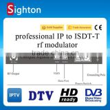 digital tv headend equipment ip to isdb-t modulator with rf and ip output