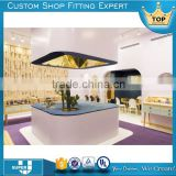 JE01 2016 wood jewelry shop interior design decoration latest high quality jewelry store furniture