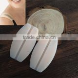 Silicone shoulder pads transparent straps stealth decompression antiskid shoulder pads Wholesale underwear shoulder pad