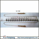 Fashion crystal rhinestone jewel chain belt with tassel ending for wedding dress