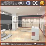 Top quality wooden colorful retail garment shop baby clothes store interior design