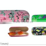 metal case/eyeglass case customized/iron case wrapped with PU/PVC