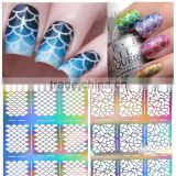 2016 New arrival hot sale Nail Stencil Guide Vinyl Decal Sticker Sticker Hollow Tip Guides nail art stickers