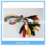 10pcs/lot Lilypad FLORA Small Alligator Clip Test Lead With Pvc Cable(set of 10) (BT0192-W) B504