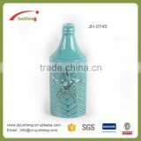 home & garden glazed blue vase ceramic pot decoration ideas, flower pot for cemetery