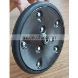 12x1semi solid agricultural rubber wheel with iron rims for agricultural seeding machine