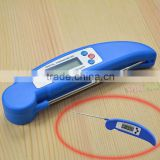 Blue BBQ Foldable Thermometer Barbecue Digital LCD Cooking Food Probe Meat Kitchen Sensor