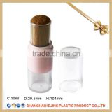 High quality loose mineral foundation powder container with brush