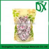 High quality food grade glossy printed plastic packaging jelly candy bag for baby food in china alibaba