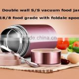 christmas gift set food jug 650/800/1000ml vacuum soup jar 18/8 ss thermos mugs container flasks