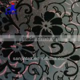 Joint printing Flock fabric use for women's winter suit or dress or children clothes