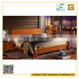 China Cheap Bedroom Furniture Foshan Liansheng Solid Wood Beds Genuine Leather Fabric Pet