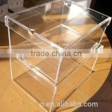High transparent factory direct price acrylic shoe boxes, acrylic shoes storage box for sale