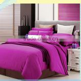 OEM Wholesale red cotton commercial hotel bedding duvet cover set,cheap hotel bed linen,flat sheet
